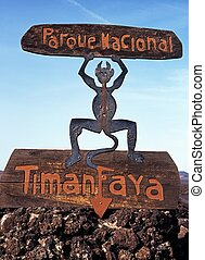 Timanfaya Fire Devil - National Park Fire Devil, Timanfaya...