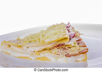sarriette, pan cake, séché, viande, fromage