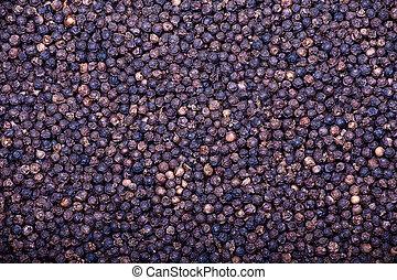 Black peppercorn background - Black pepper as whole...