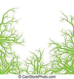 Green roots ecology background vector for poster