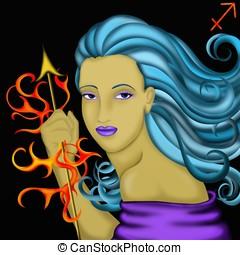 zodiaque,  -, Sagittaire, signes