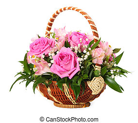 Bouquet of flowers - Bouquet of miscellaneous flowers on old...