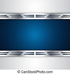Abstract background, metallic blue brochure, vector
