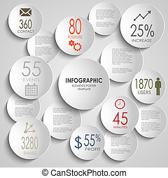 Abstract colored round infographic template vector eps 10
