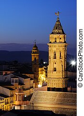 Church towers, Antequera, Spain - San Sebastian nearest San...