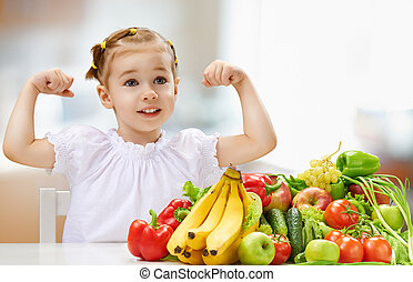 comer, fresco, fruta