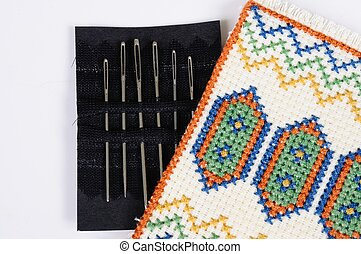 Tapestry needles in holder - Tapestryembroidery needles in...