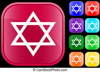 Judaism symbol - Star of David, icon and symbol of the...