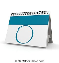 Blank blue calendar - Hi-res original rendered computer...