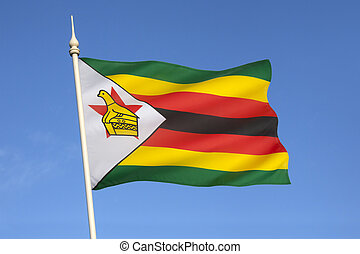 Flag of Zimbabwe - The national flag of the Republic of...