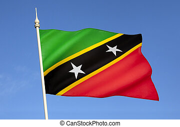 Flag of Saint Kitts and Nevis - The flag of the Federation...