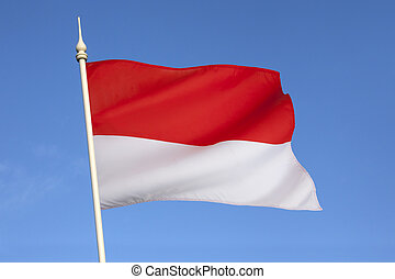Flag of Indonesia - The national flag of Indonesia, which is...