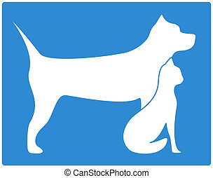 pet icon with dog and cat