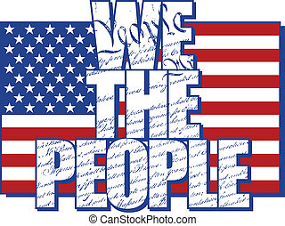 We The People - WE THE PEOPLE text design filled with the...