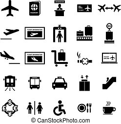 Airport Icon set for your design