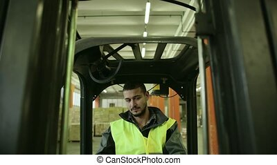 7of19 People working in warehouse - Logistics business and...