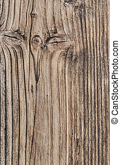 Old Weathered Cracked Plank With Wood Knots - Detail