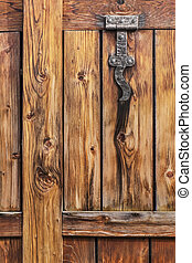 Old Weathered Cracked Plank With Wood Knot - Detail
