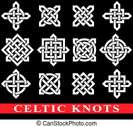 Celtic knots isolated on black background