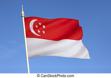 Flag of Singapore - The national flag of Singapore was first...