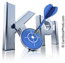 KPI icon - high resolution 3D rendering of a KPI icon