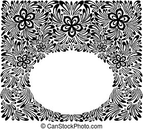 beautiful floral pattern, a design element in the old style....