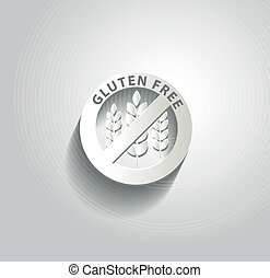 Gluten free symbol, beautiful paper design
