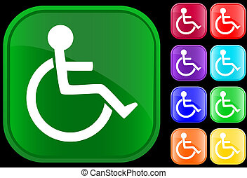 Handicap icon on shiny buttons