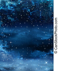 night sky with stars - beautiful background of the night sky...