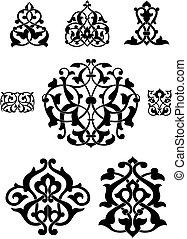 Arabesque vector collection for design
