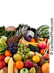 Vegetables and fruits - Collection of different vegetables...
