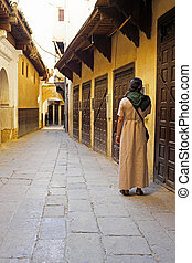 Old street in Fes Morocco
