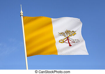 Flag of The Vatican City - The flag of the Vatican City was...