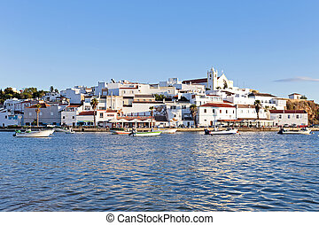 View on Ferragudo in the Algarve Portugal