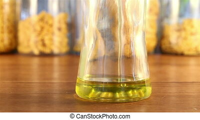 Filling up an Olive Oil Jar