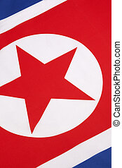 Detail on the flag of North Korea - The flag of North Korea...