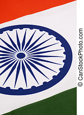 Detail on the flag of India - The National flag of India was...