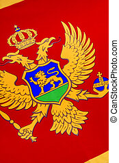 Detail on the flag of Montenegro - Europe - The national...