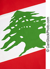 Detail on the flag of Lebanon - The flag of Lebanon was...