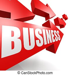 Business arrow red