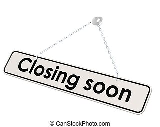 Closing soon banner - Hi-res original rendered computer...
