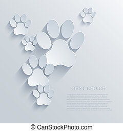vector paw background. Eps10