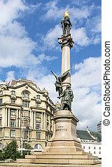 Adam Mickiewicz Column, Lviv, Ukraine - Adam Mickiewicz...