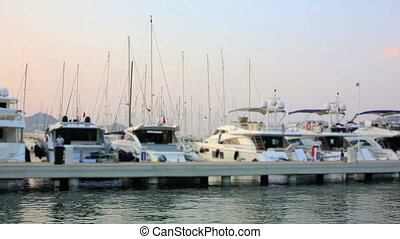 Yatchs in Marina, Bodrum, Turkey