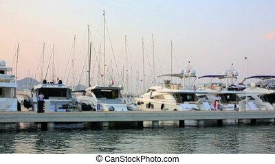 Yatchs in Marina, Bodrum, Turkey