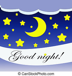 Good night Clip Art and Stock Illustrations. 1,832 Good night EPS ...