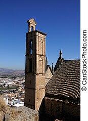 Santa Maria church, Antequera. - Santa Maria church bell...