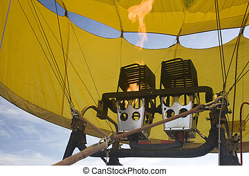 propane gas burners of hot air balloon - propane gas burners...