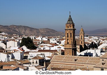 Town rooftops, Antequera, Spain - San Sebastian nearest and...