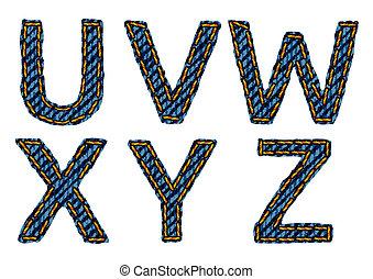 letter U V W X Y Z